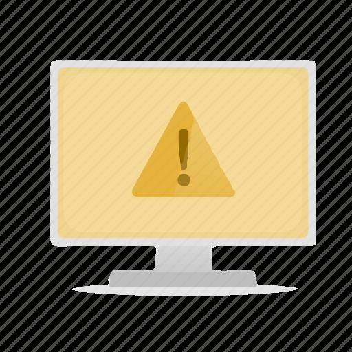 alarm, computer, display, warning icon