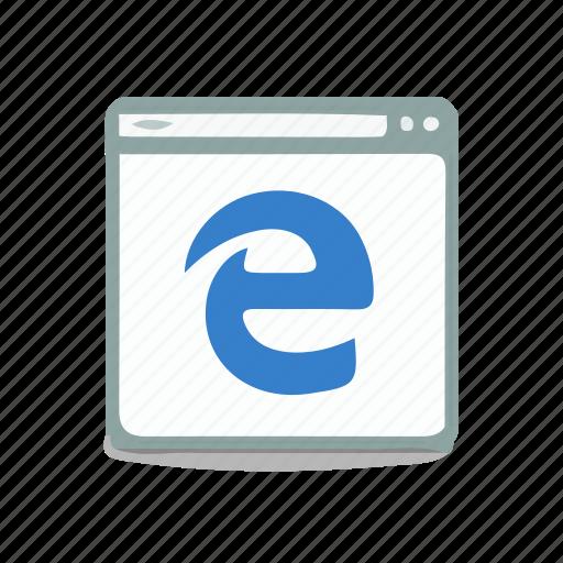 browser, edge, internet, website icon