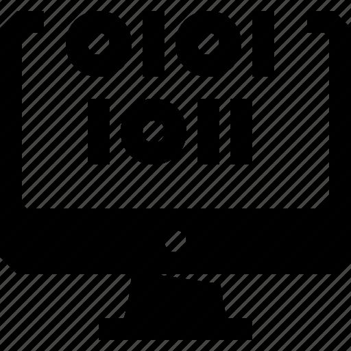 binary, code, coding, computer, pc, tech icon