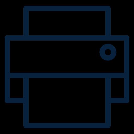 computer, electronic, printer, technology, web icon