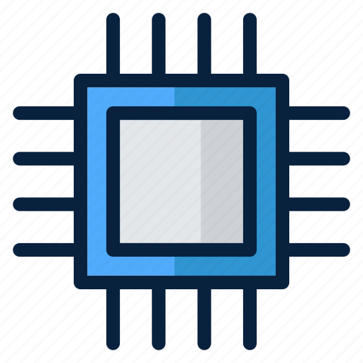 computer, electronic, microprocessor, technology, web icon