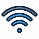 computer, electronic, technology, web, wifi icon