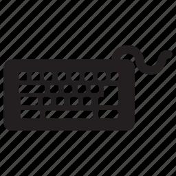 computer, hardware, keyboard, technology, type, write icon