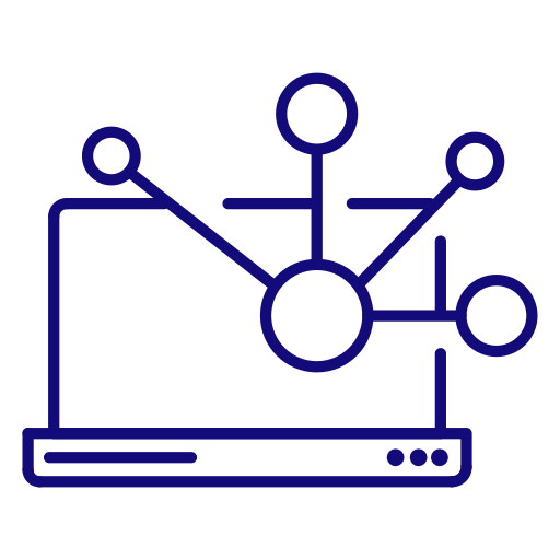 computer, laptop, network, notebook, share, web icon