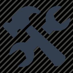 bulding, hammer, preferences, renovation, repair, settings, web, work tools icon