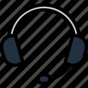 helpline, operator, professional, secretary, talk, microphone, headset icon