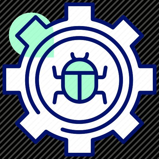 bug, defect, error, hack, settings, virus icon