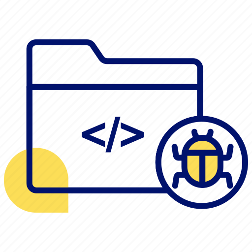 bug, defect, error, folder bug, hack, virus icon