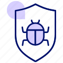 security incident, firewall, infect, shield, virus, hack icon