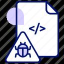 bug, computer bug, error, hack, infect, virus icon