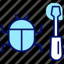 bug, defect, error, hack, repair, virus icon