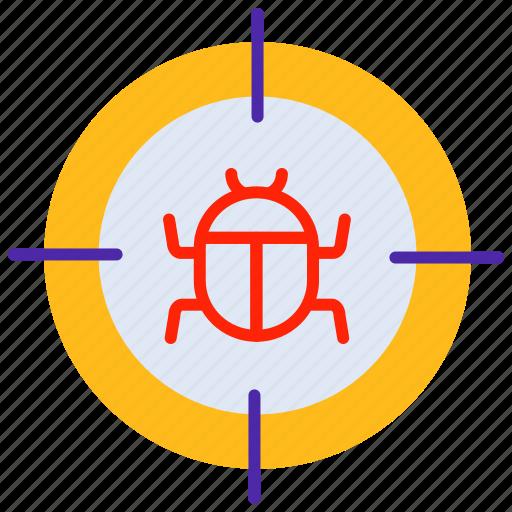 bug, error, hack, infect, virus icon