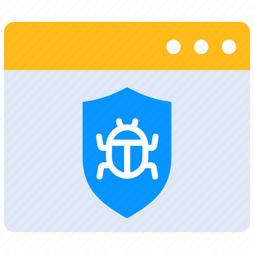 internet bug, online, security, threat, virus, web page icon
