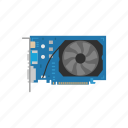 card, computer, device, display adapter, fan based, graphic card, video card icon