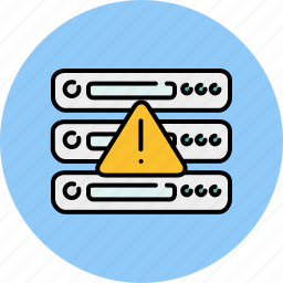 alert, computer, device, server, technology, warning icon