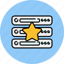 bookmark, computer, device, favourite, server, star icon