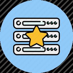 bookmark, computer, device, favourite, server, star icon