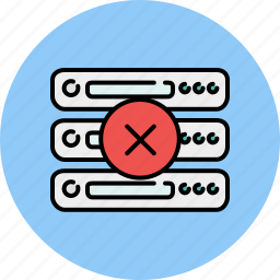 cancel, computer, delete, device, server icon