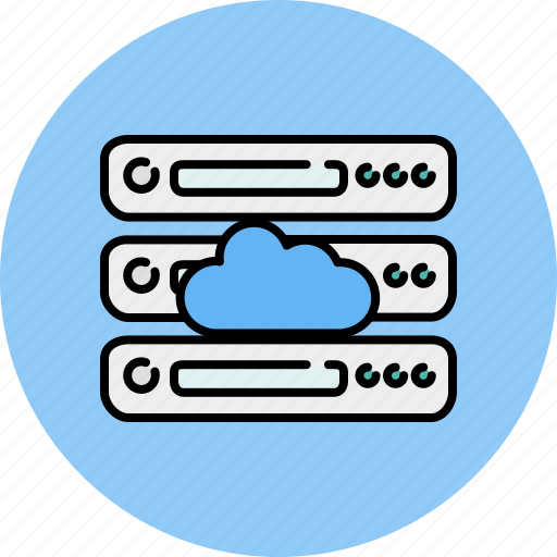 cloud, computer, device, server, share, storage icon