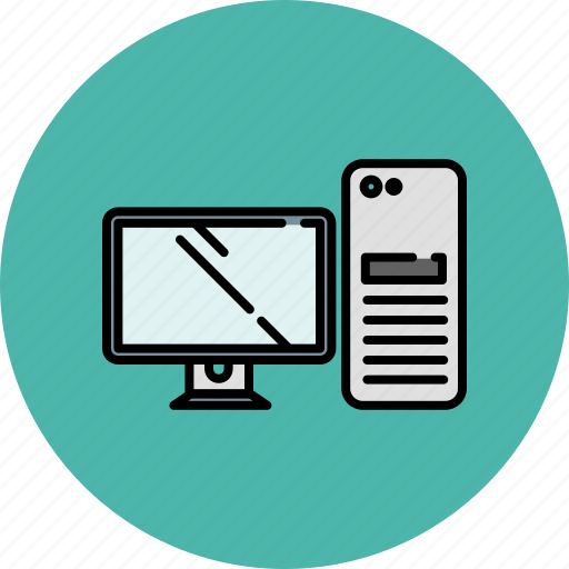 computer, device, pc, screen, technology icon
