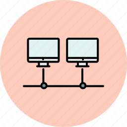 computer, device, network, screen, sharing, technology icon