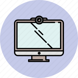chat, computer, device, screen, technology, video, webcam icon