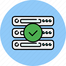 approve, complete, computer, confirm, device, server, technology icon