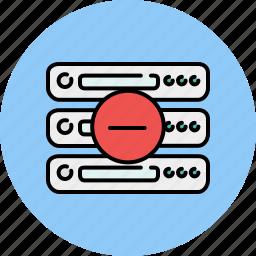 computer, delete, device, remove, server, technology icon