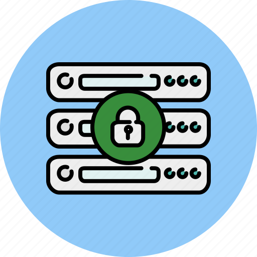 computer, device, lock, privacy, safety, server icon