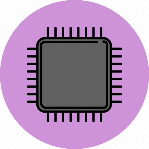 computer, device, microchip, technology icon