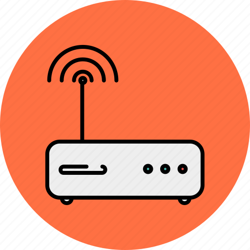 communication, computer, device, internet, modem, technology icon