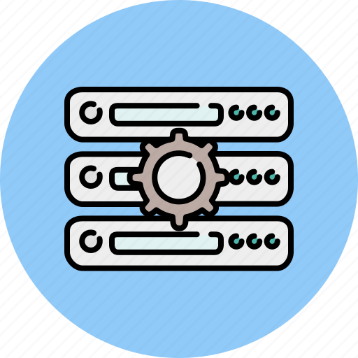 computer, devices, functions, preferences, server, settings, technology icon