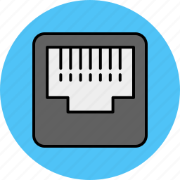 computer, device, internet, line, plug, telephone icon