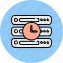 clock, computer, device, server, technology, time icon