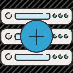 add, computer, device, new, server icon