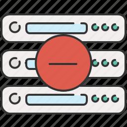 computer, delete, device, remove, server icon