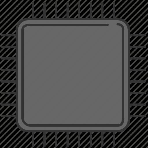 computer, device, microchip icon