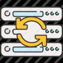 arrow, computer, device, refresh, server
