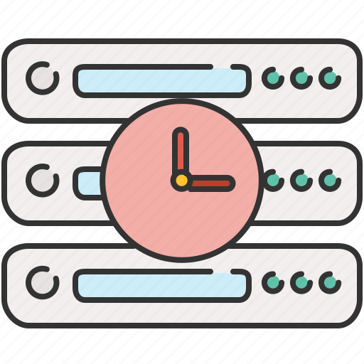 clock, computer, device, server, time icon