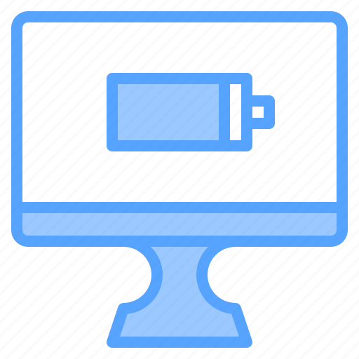 battery, comfortable, computer, display, file, folder, work icon