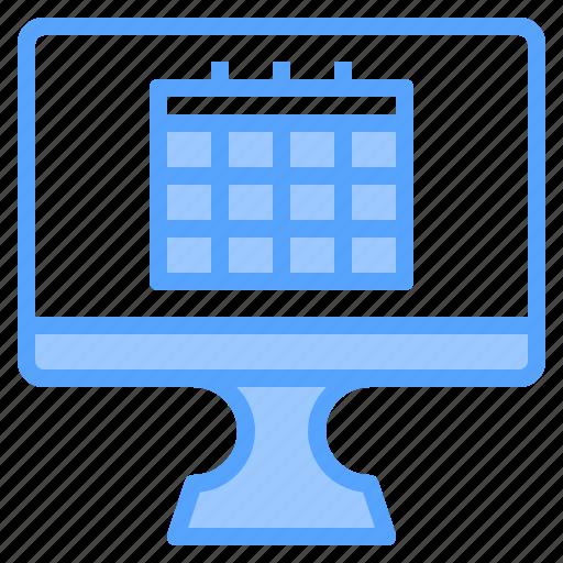 calendar, comfortable, computer, display, file, folder, work icon