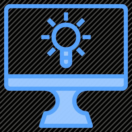 comfortable, computer, display, file, folder, light, work icon