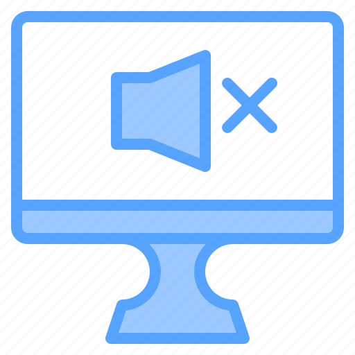 comfortable, computer, display, file, folder, off, sound icon