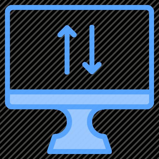 comfortable, computer, display, download, file, folder, upload icon