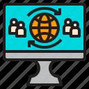 comfortable, computer, display, file, multi, user, wolrdwide icon