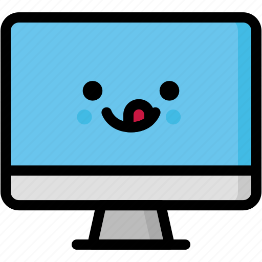 computer, emoji, emotion, expression, face, feeling, naughty icon