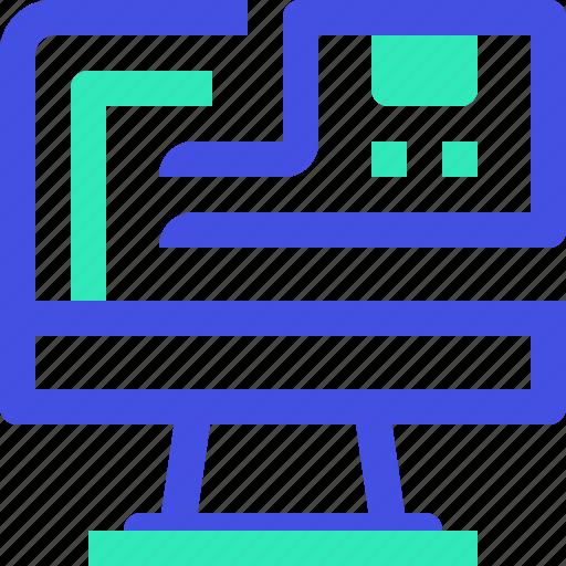 computer, shopping icon