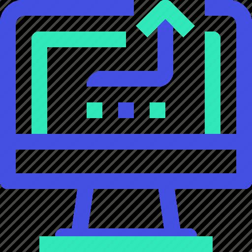 computer, output icon