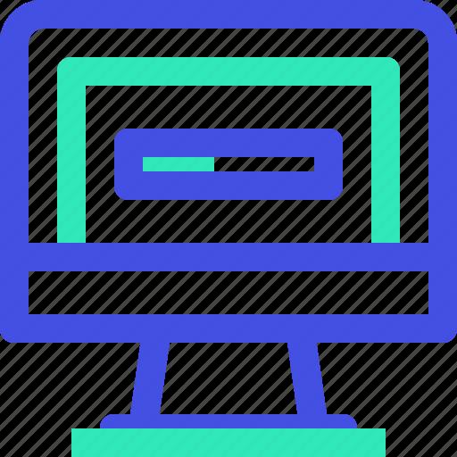 computer, loading icon