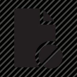 block, document, files, prohibited icon
